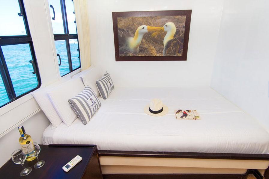 Croisière Archipel II Galapagos, cabine double matrimoniale