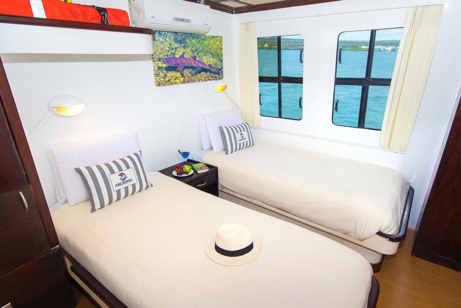 Croisière Archipel II Galapagos, cabine double twin