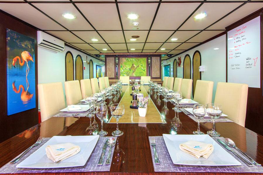 Croisière Archipel II Galapagos, restaurant