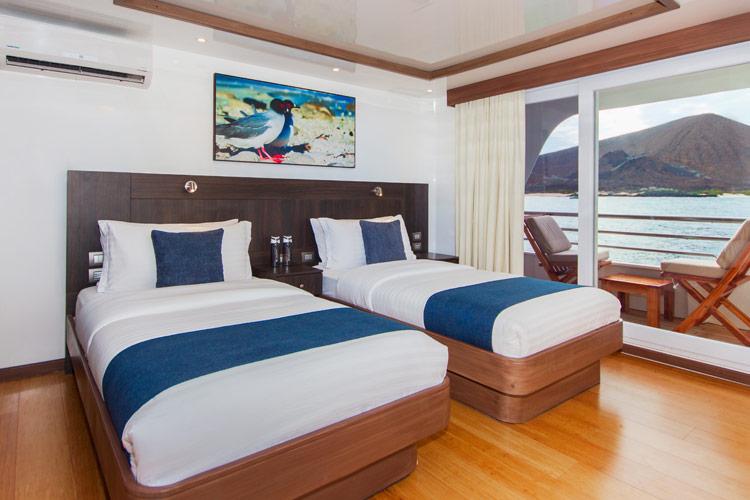 Croisière Cormorant Galapagos, cabine twin