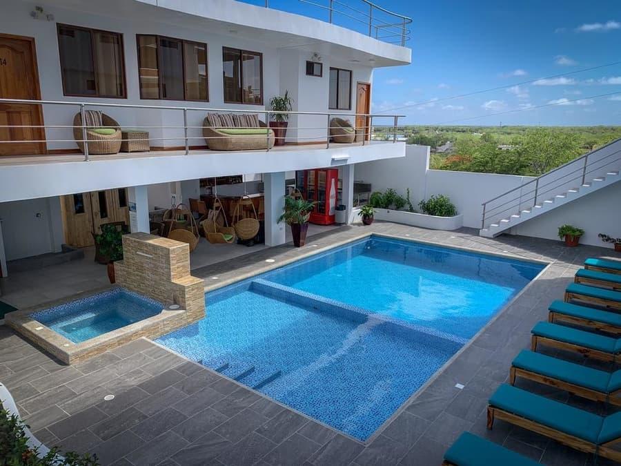 Hôtel Descanso del Guía aux Galapagos île Santa Cruz, Piscine