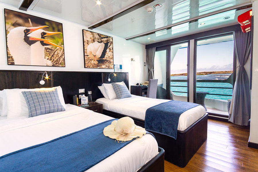 Croisière Natural Paradise Galapagos, Jr suite pont sup