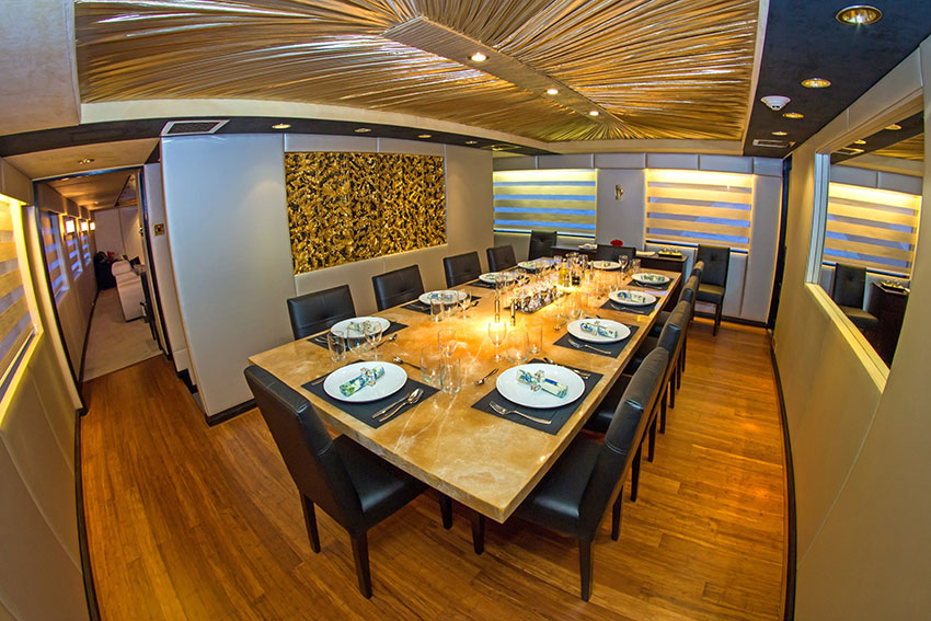 Croisière Passion Galapagos, salle à manger