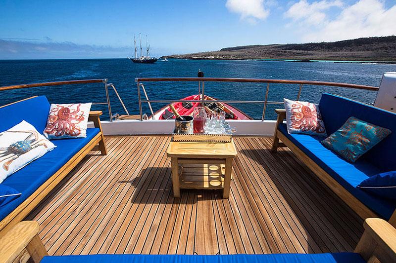 Croisière Passion Galapagos, salon extérieur