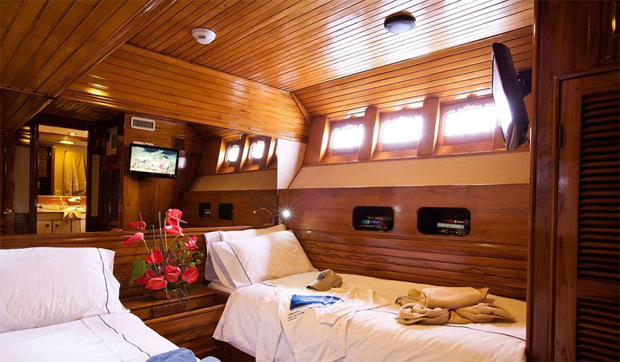 Croisière plongée Galapagos Aggressor, cabine twin