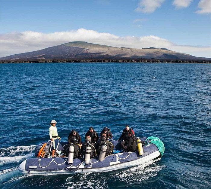 Croisière plongée Galapagos Aggressor, zodiac
