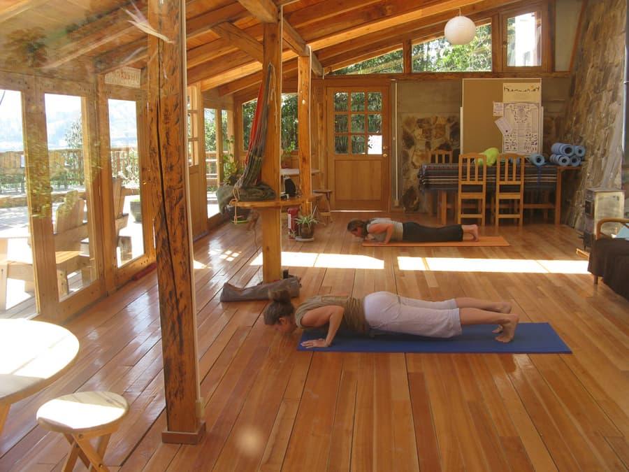 Hôtel Lodge Black Sheep Inn, Chugchilan, Equateur, cours de yoga