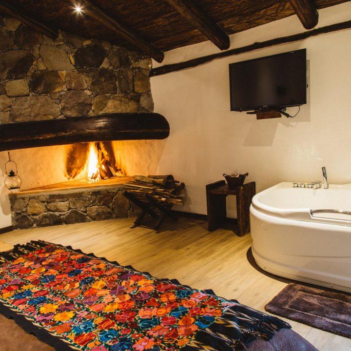 Hacienda Dos Chorreras, Parc Cajas, salle de bain suite