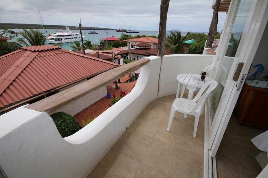 Hôtel Angermeyer Waterfront aux Galapagos: standard terrasse