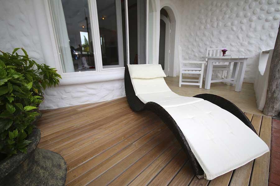 Hôtel Angermeyer Waterfront aux Galapagos: suite terrasse