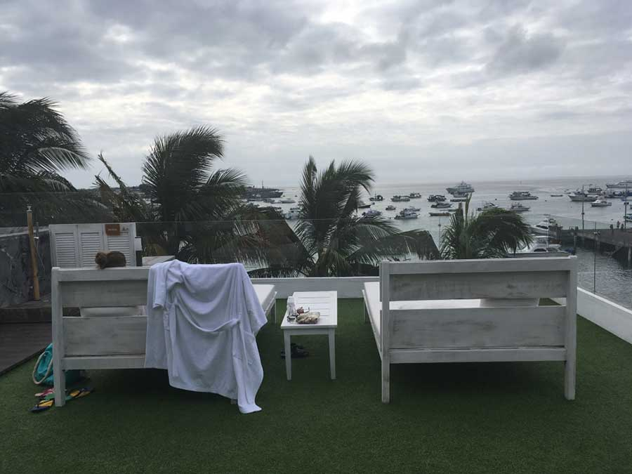 Hôtel Golden Bay aux Galapagos: vue mer