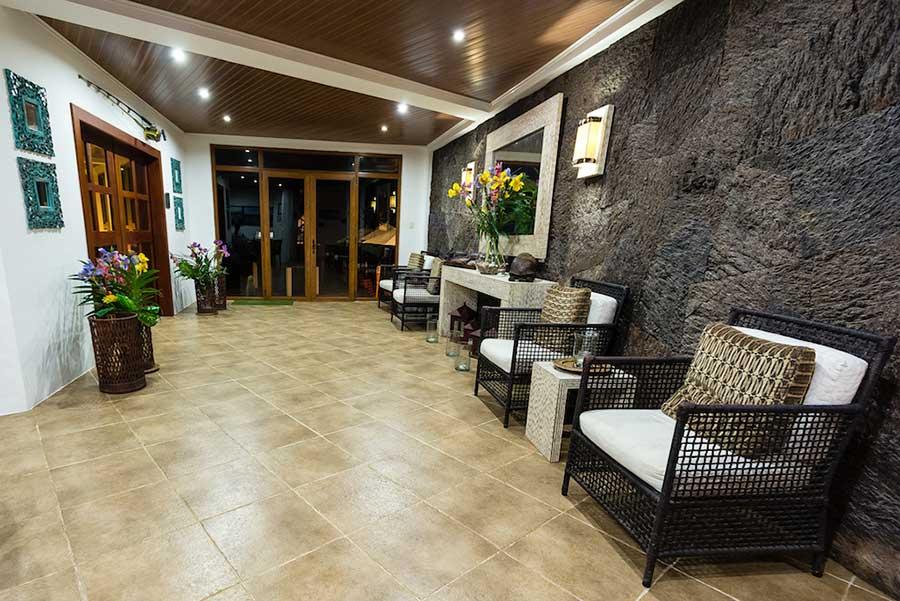 Hôtel Iguana Crossing aux Galapagos: entrée