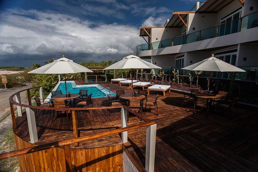 Hôtel Iguana Crossing aux Galapagos: terrasse