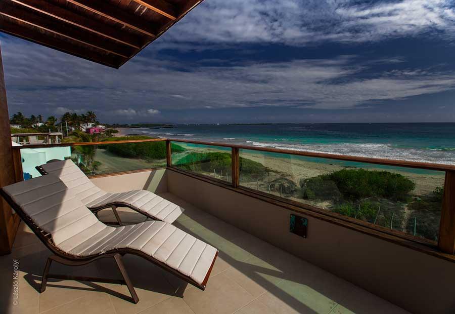 Hôtel Iguana Crossing aux Galapagos: vue mer