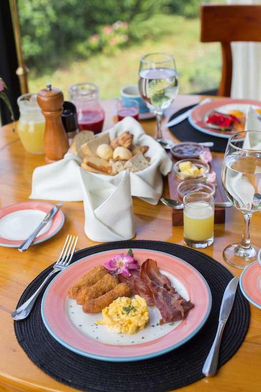 Royal Palm lodge aux Galapagos: petit-déjeuner
