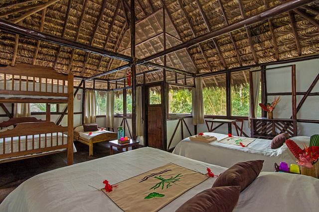 Cotococha Lodge, Equateur, cabane familiale