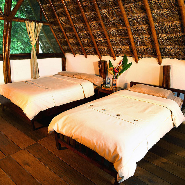 Cotococha Lodge, Equateur, cabane twin