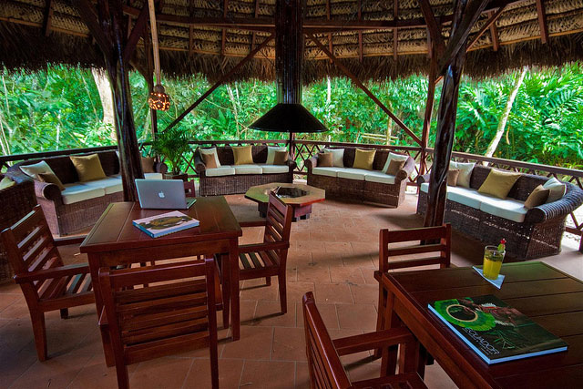 Cotococha Lodge, Equateur, salon