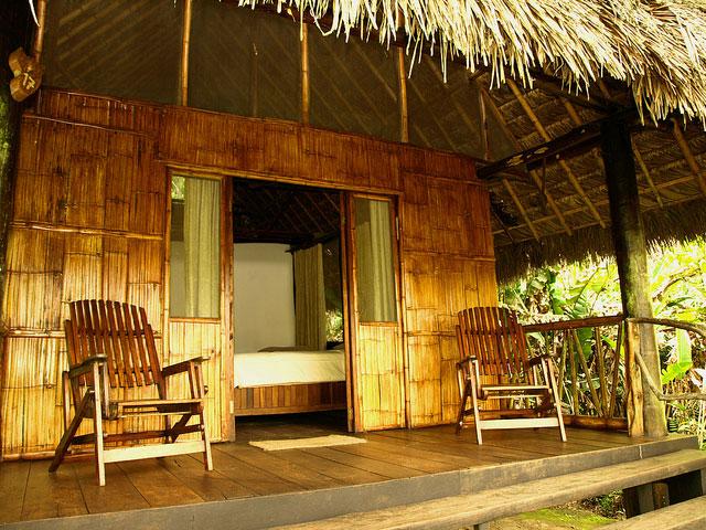 Cotococha Lodge, Equateur, terrasse individuelle