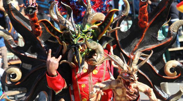 Célébration de la Diablada de Pillaro en Équateur (crédit photo - El Comercio)