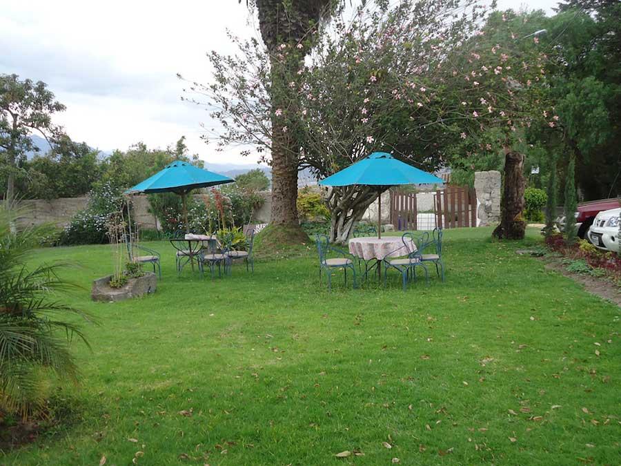 Hacienda Chorlavi, Ibarra, jardin