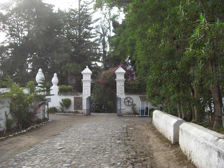 Hacienda Pinsaqui, Otavalo, entrée