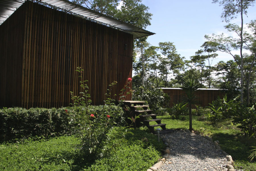 Hamadryade Lodge, Equateur, entrée cabane