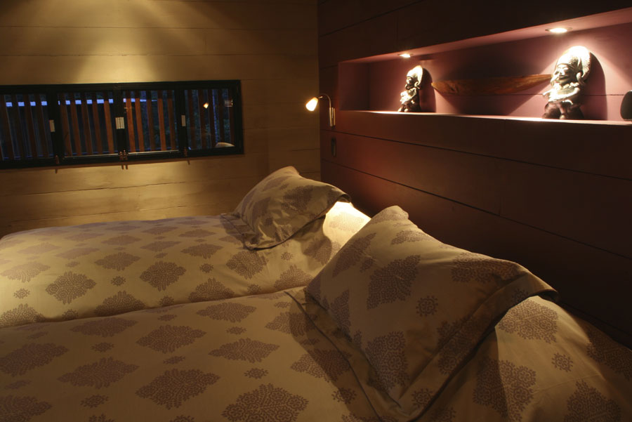 Hamadryade Lodge, Equateur, chambre