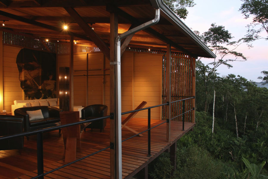 Hamadryade Lodge, Equateur, salon