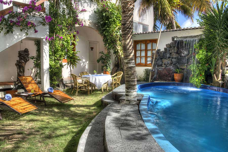 îles Galapagos: hôtel Albemarle, piscine