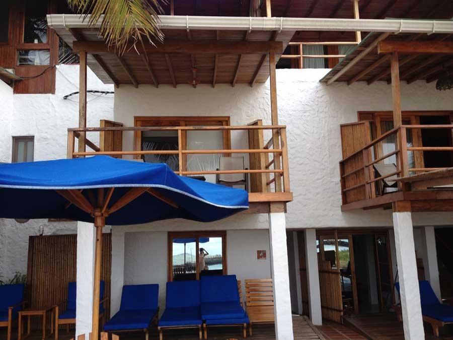 Hôtel Casa de Marita, îles Galapagos, balcon