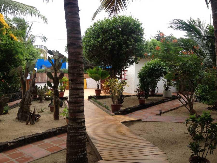 Hôtel Casa de Marita, îles Galapagos, jardin