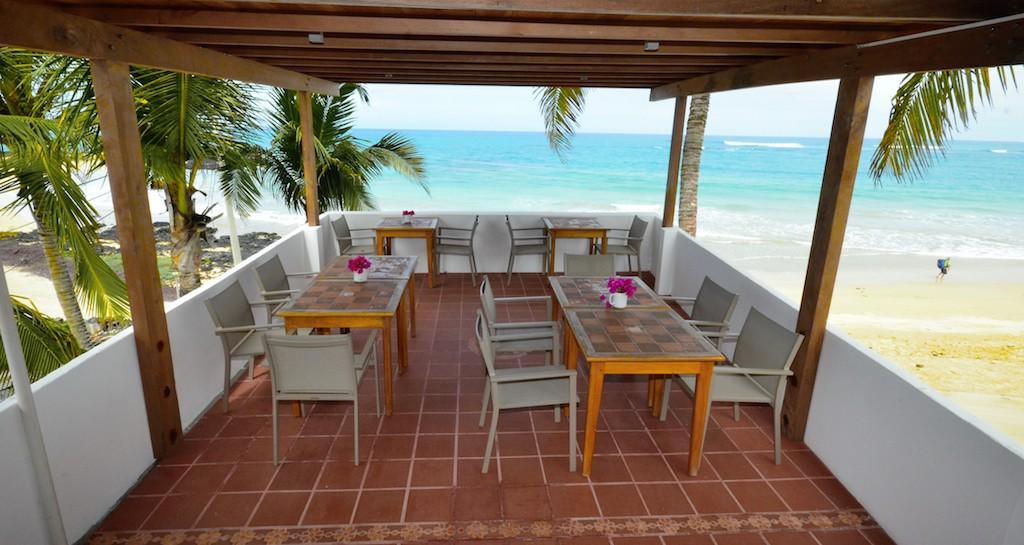 îles Galapagos: hôtel Casita de la Playa, restaurant
