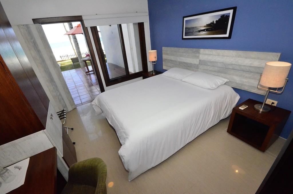 îles Galapagos: hôtel Casita de la Playa, chambre vue mer