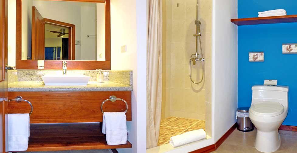 îles Galapagos: salle de bain de l'hôtel Cucuve Suite