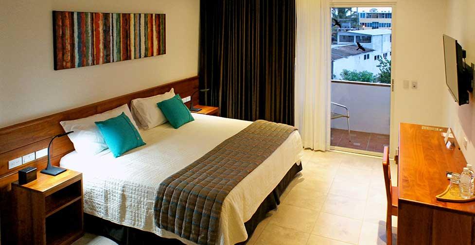îles Galapagos: chambre supérieure de l'hôtel Cucuve Suite