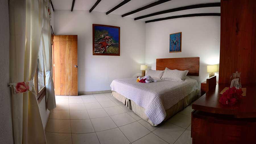 Hôtel Fiesta, îles Galapagos, chambre matrimoniale