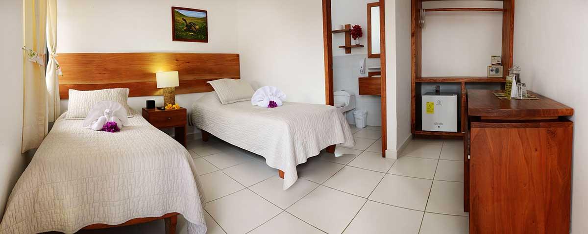 Hôtel Fiesta, îles Galapagos, chambre lits jumeaux