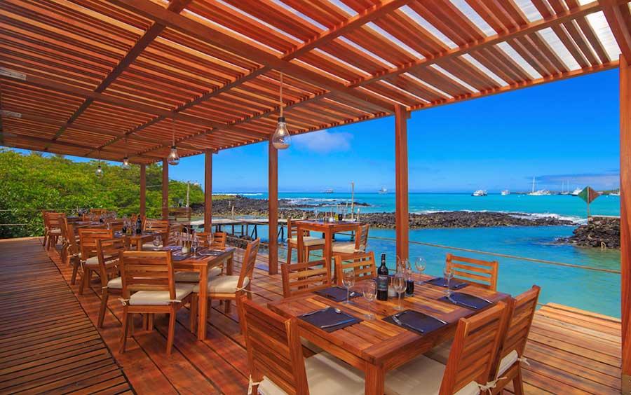îles Galapagos: hôtel Galapagos Habitat, terrasse
