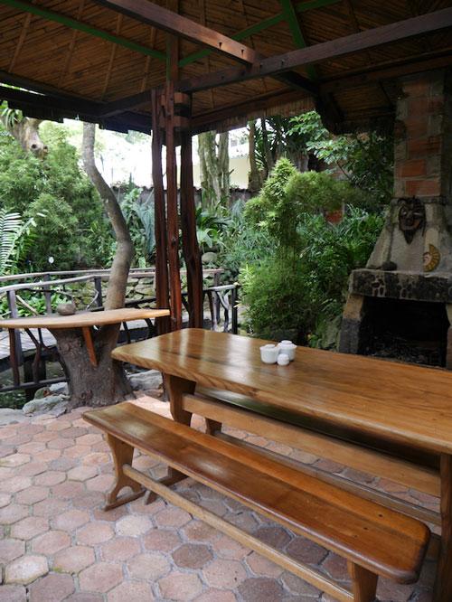 HôteI Isla de Baños, terrasse