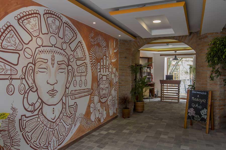 Hôtel Masaya, Quito, entrée