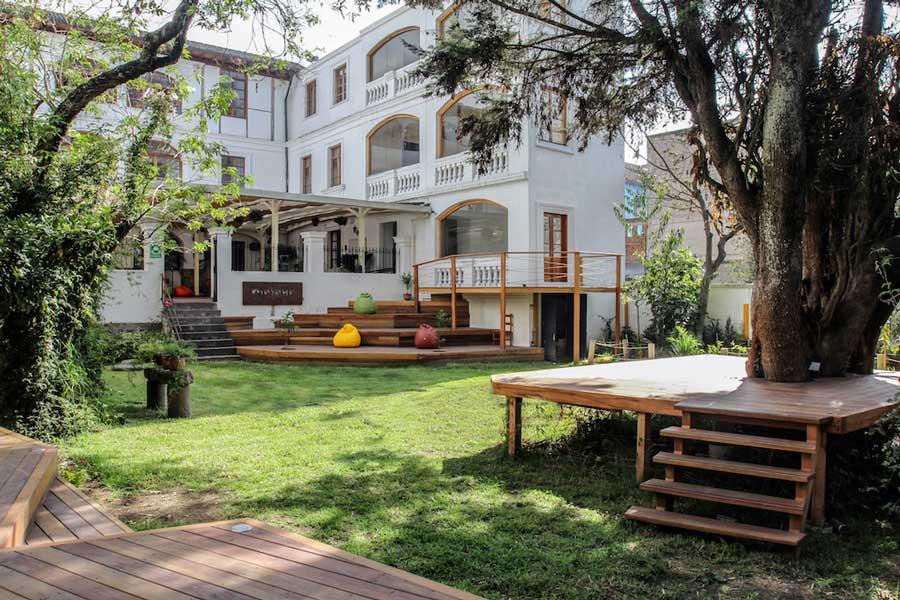 Hôtel Masaya, Quito, jardin