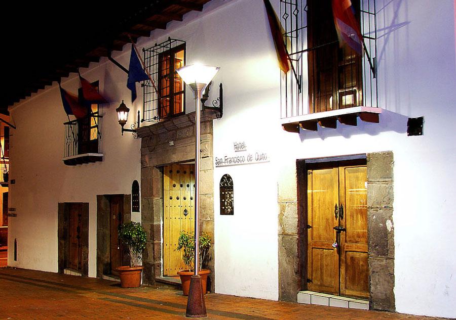 Hôtel San Francisco, Quito, façade