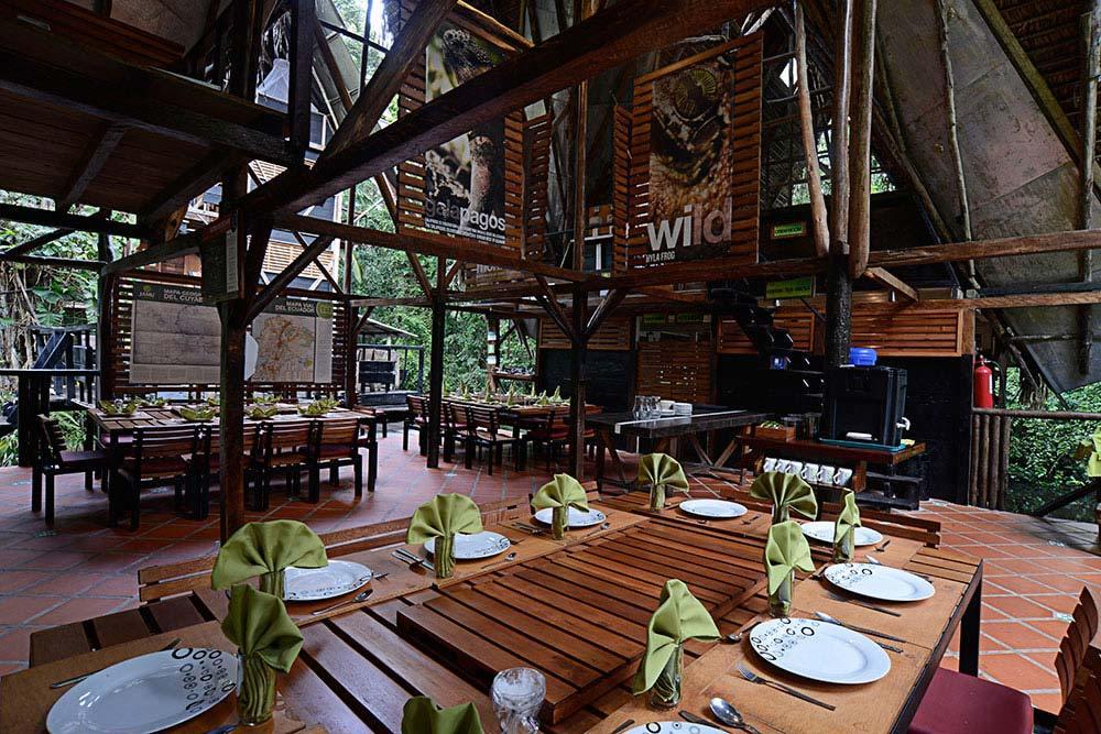 Jamu Lodge, Réserve Cuyabeno, restaurant
