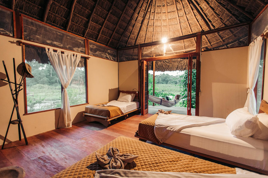 Kapawi Lodge, Amazonie, chambre double