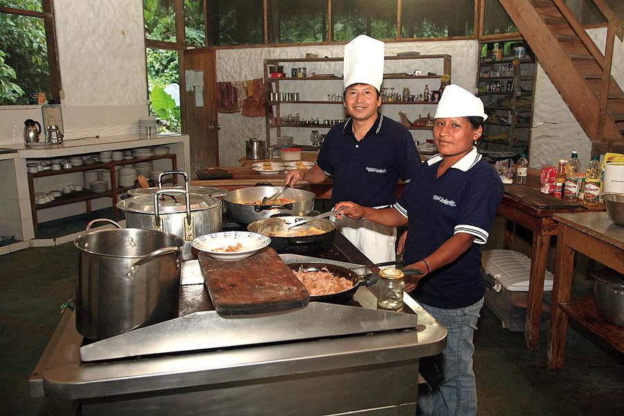 Liana Lodge, Equateur, cuisine