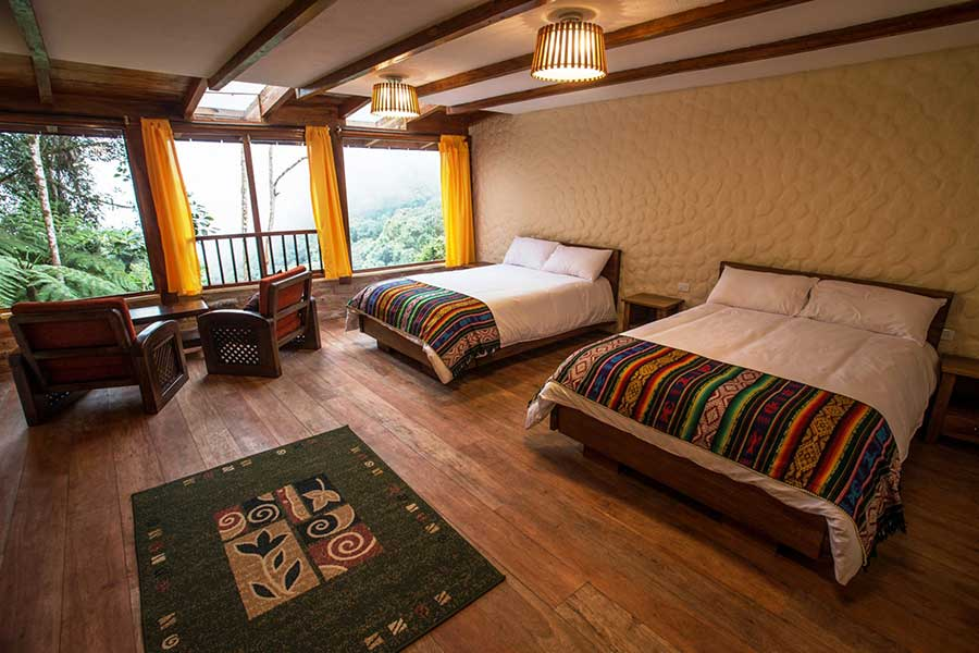 Lodge Bellavista, Mindo, chambre sup twin