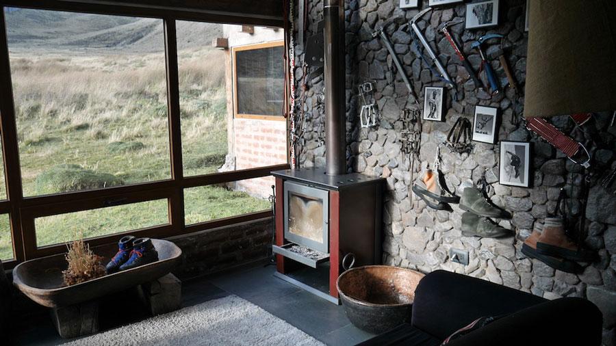 Lodge Chimborazo, salon cabane