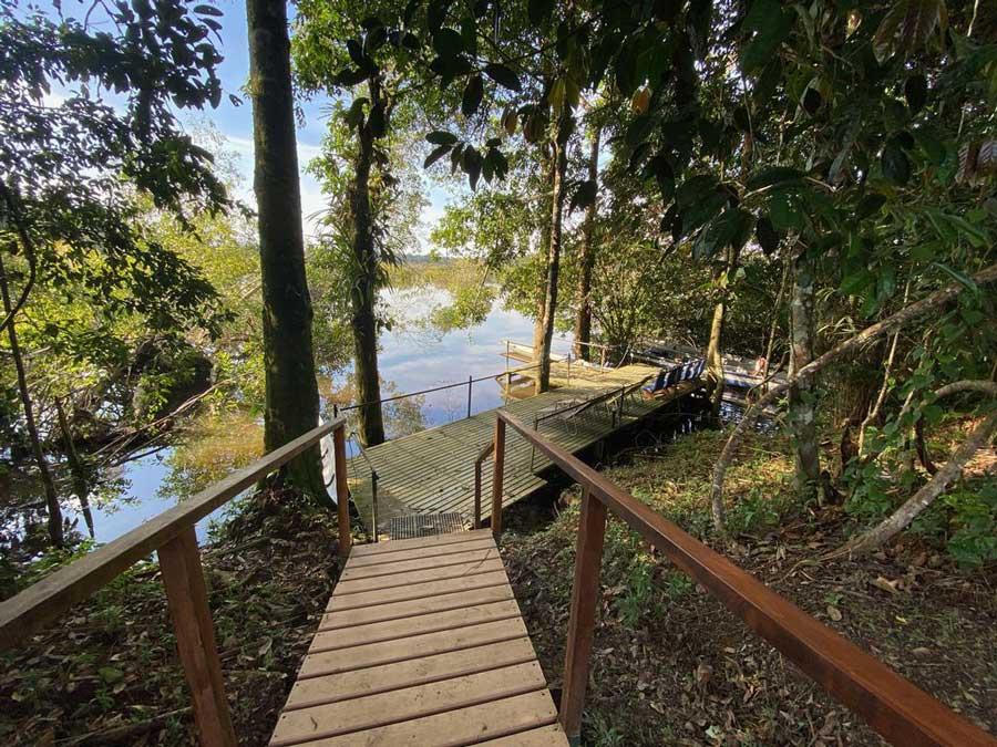 Lodge Cuyabeno, Equateur, ponton