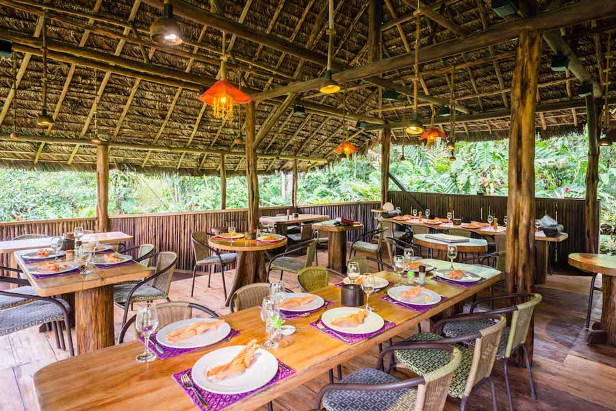 Lodge Hakuna Matata, Equateur, restaurant